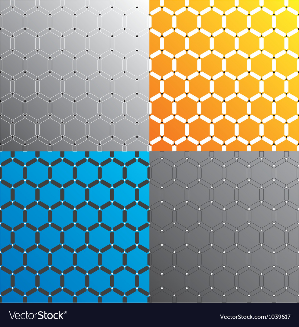 Seamless geometric pattern set vector