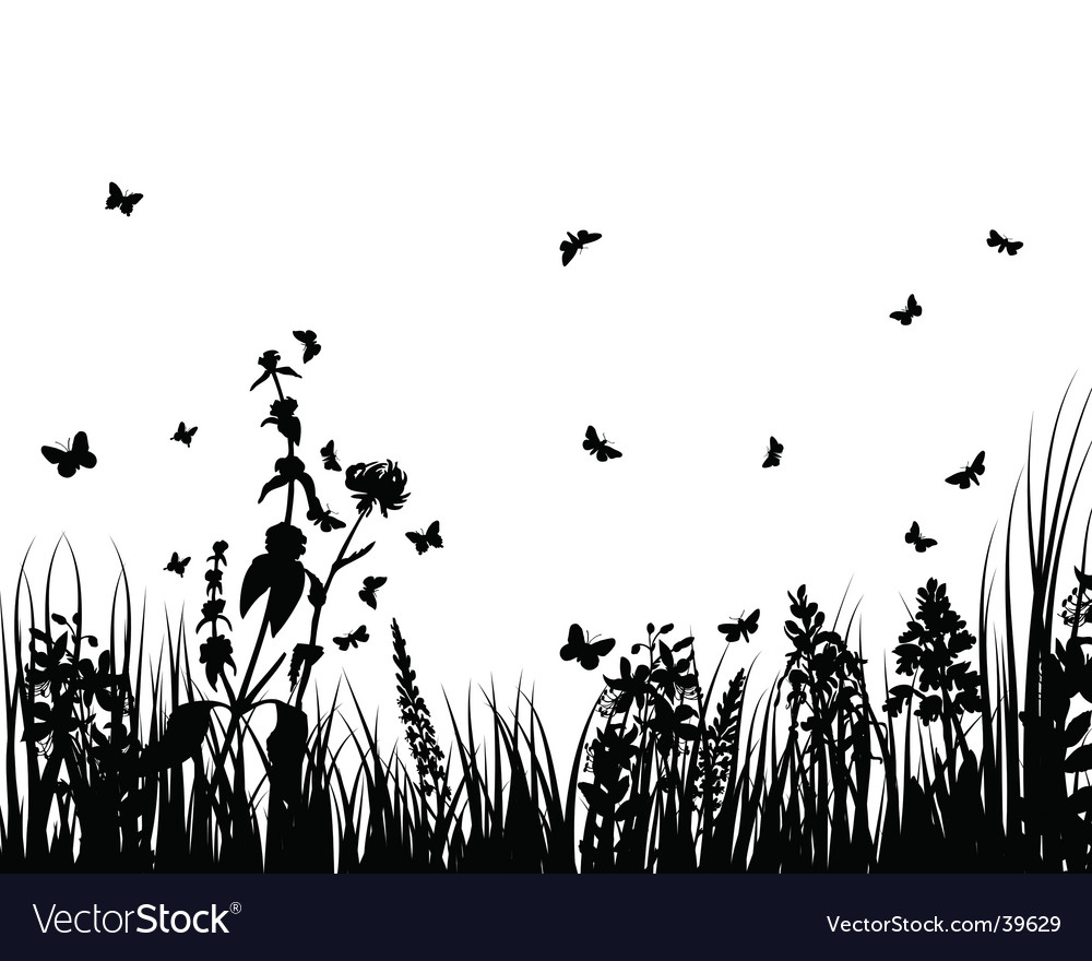 Plant silhouette vector by angelp Image 39629 VectorStock