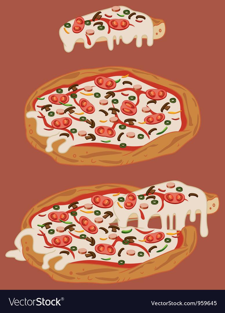 Italian handmade pizza 2 vector by marzolino - Image #959645 ...