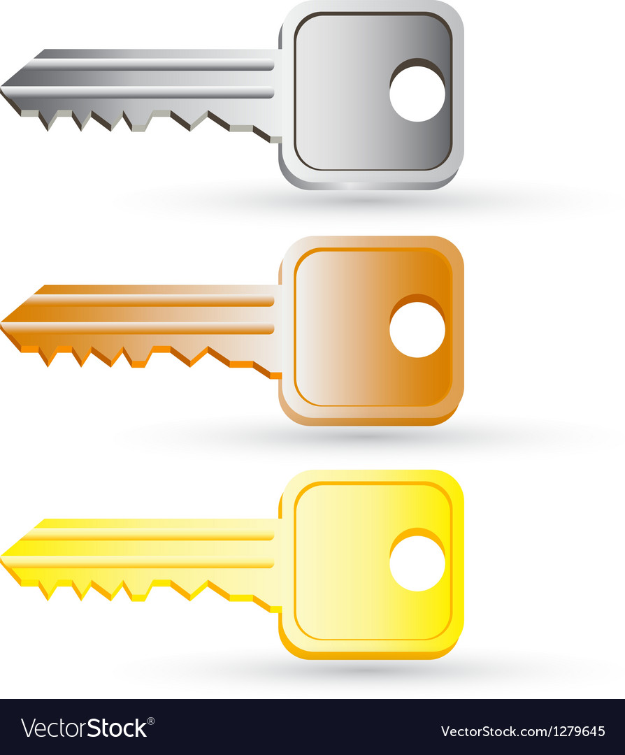 Set of house key icons vector
