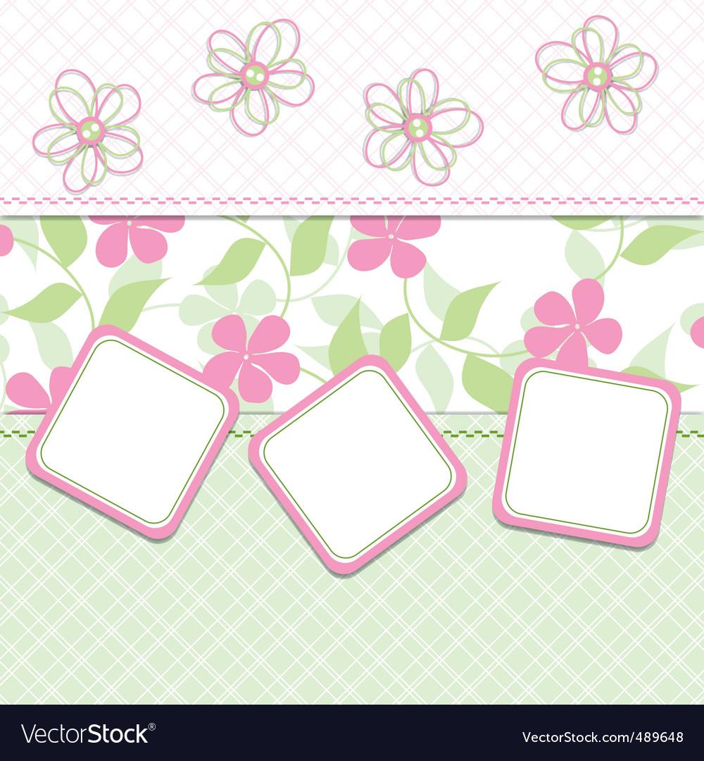 Girl template vector