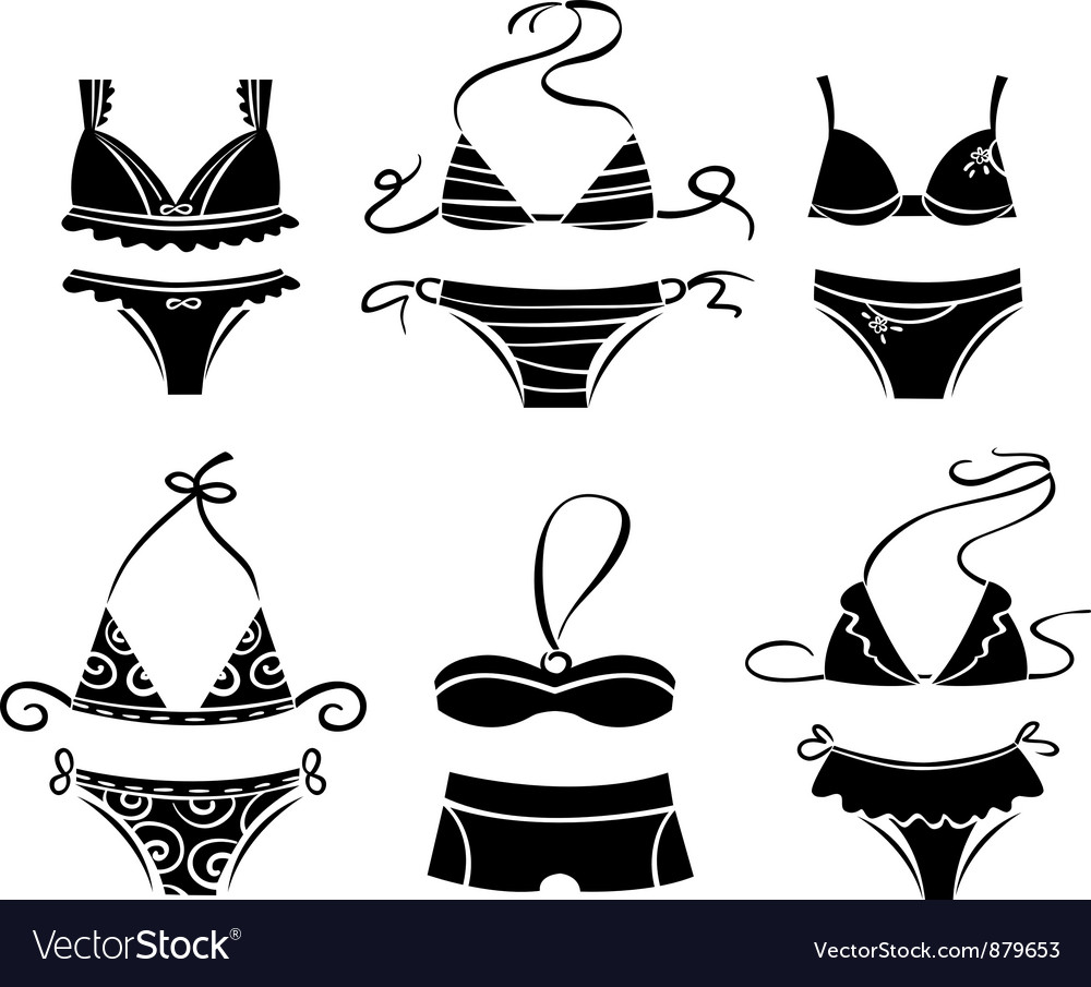 Set of lingerie vector