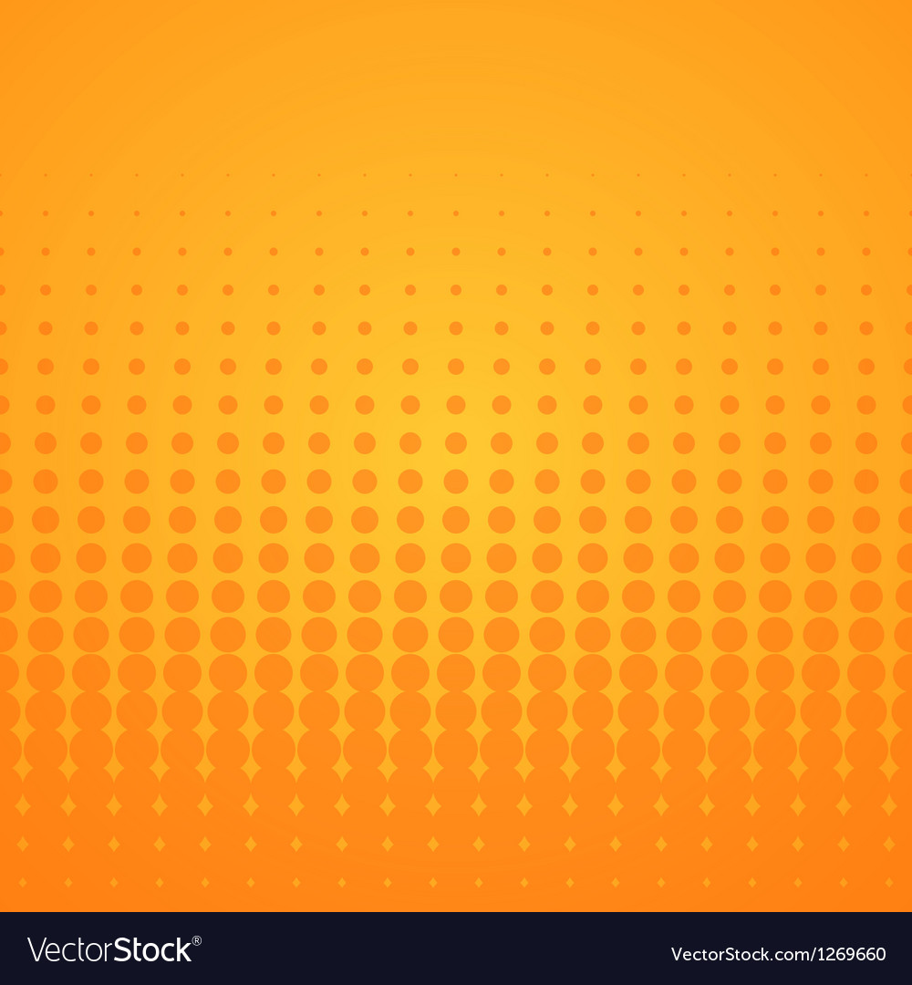 Orange halftone pattern vector