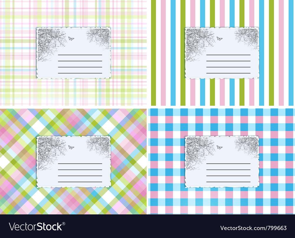 Retro cards vector
