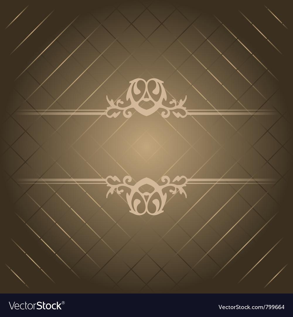 Brown luxury background vector