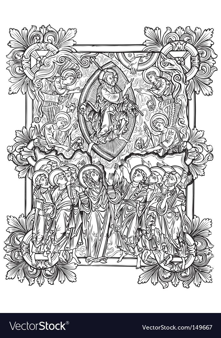 Antique engraving vector