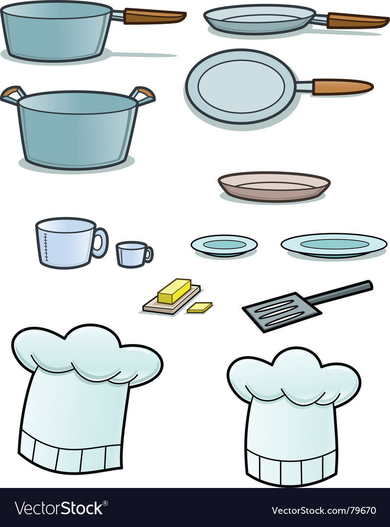 Cooking implements vector