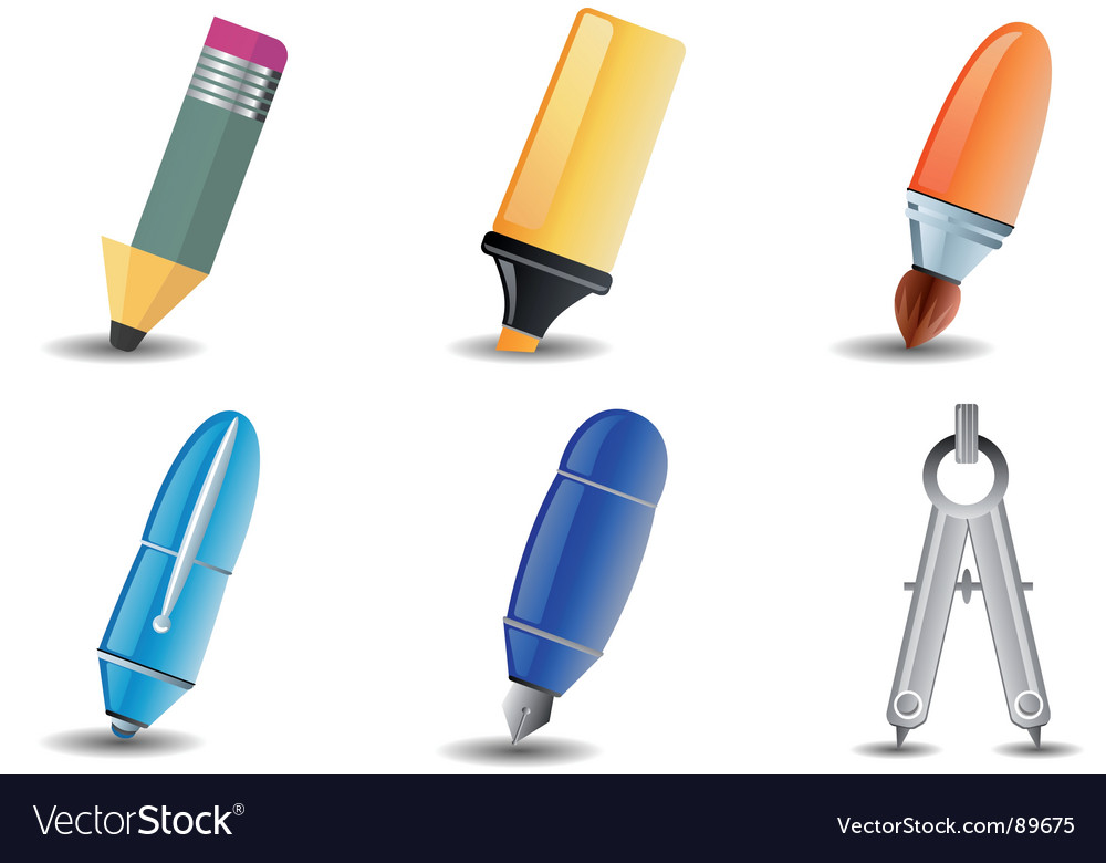 Writing and drawing icon vector