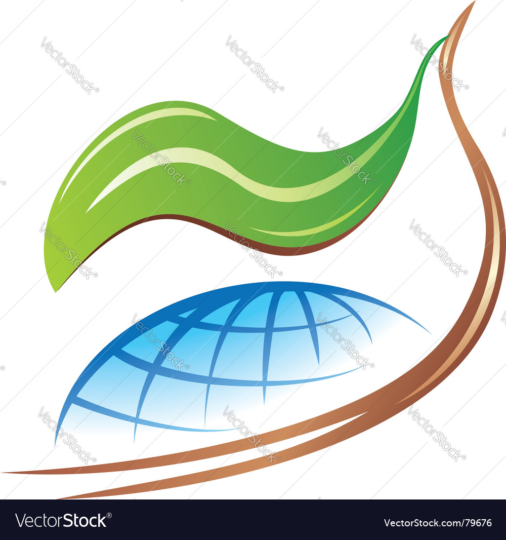 Save earth logo vector