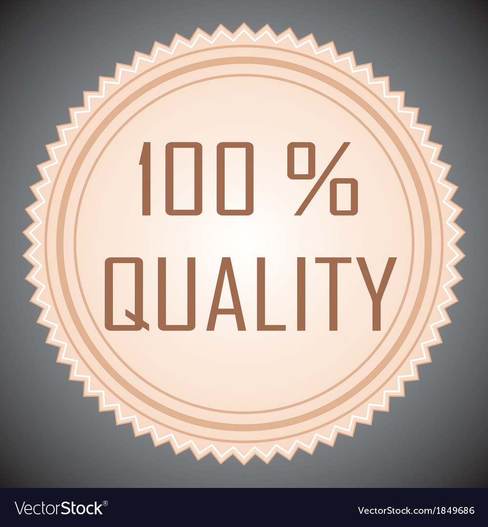 Quality guarantee sign vector