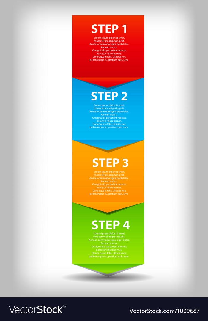 Concept of business process improvements chart vector