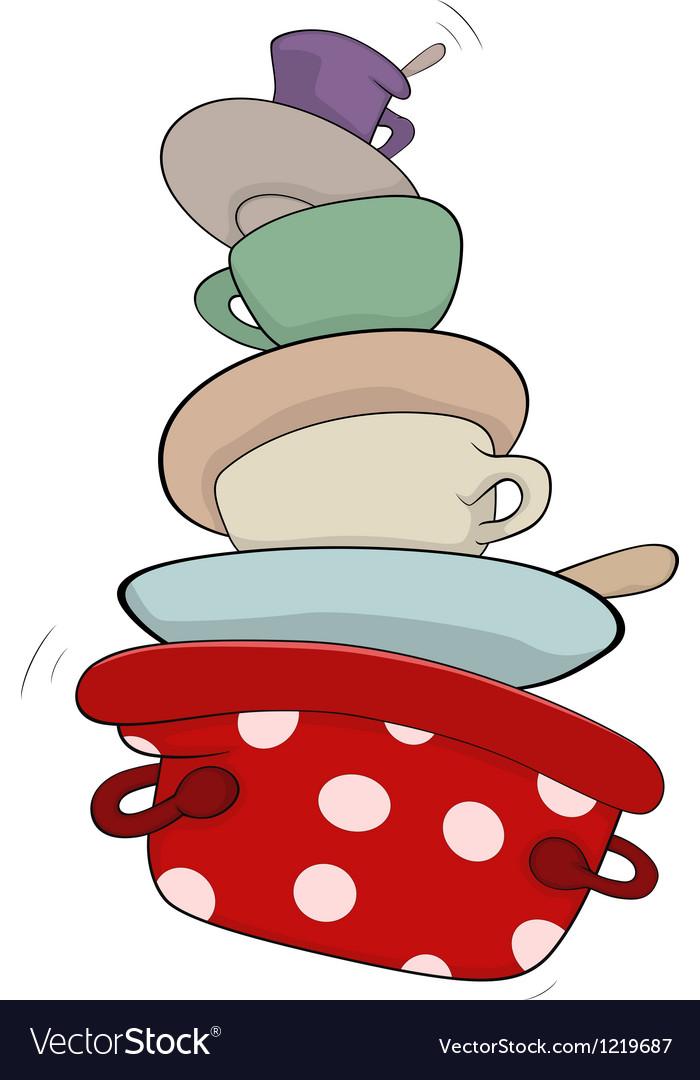 Kitchenware cartoon vector