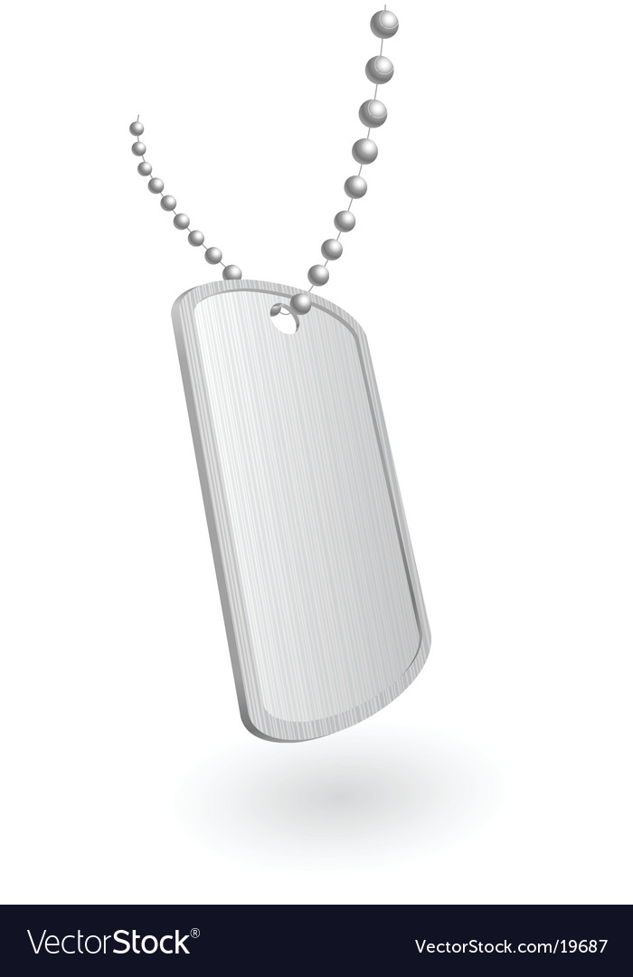 Military aluminum plate vector