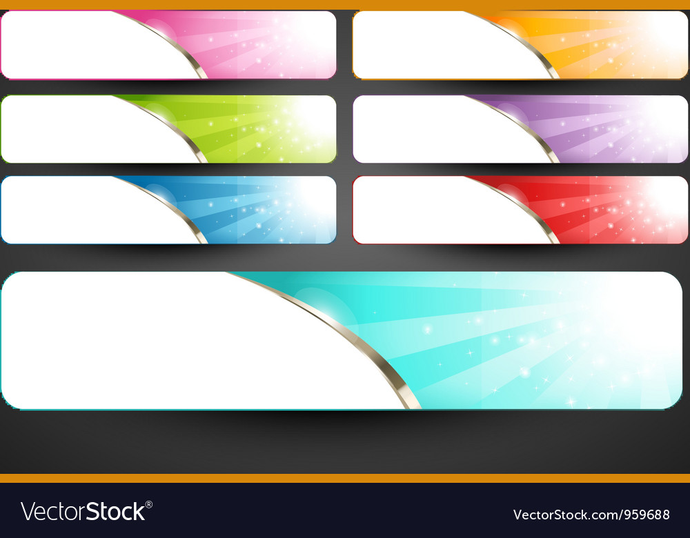 Premium abstract web banners set vector