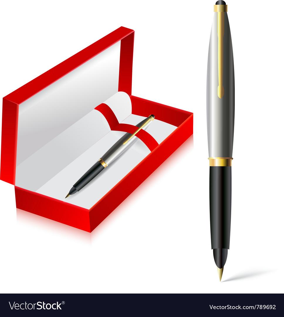 Gift pen vector