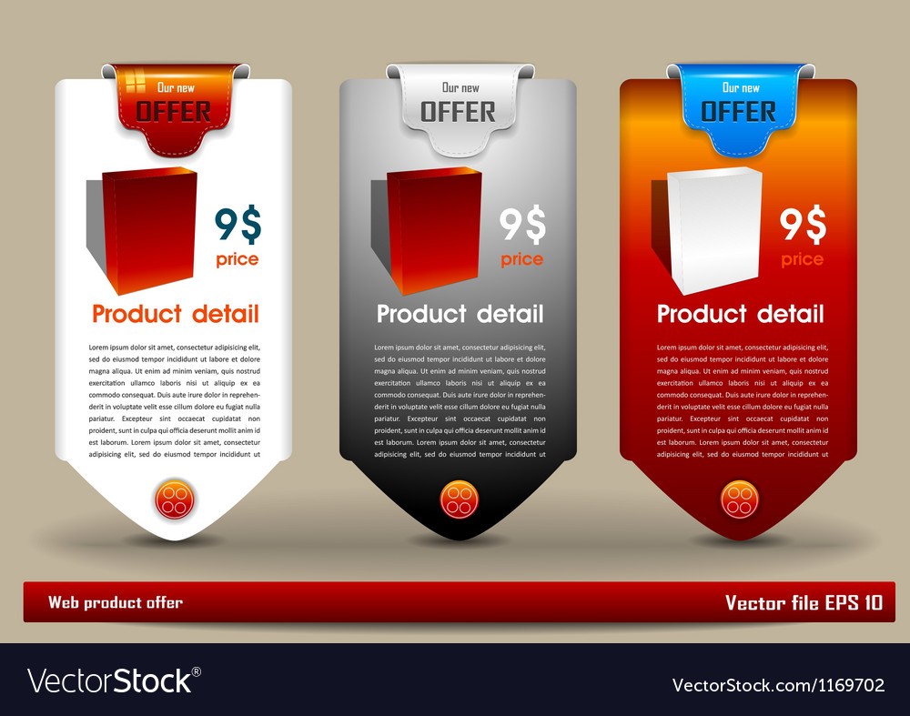 Web product offer banner vector