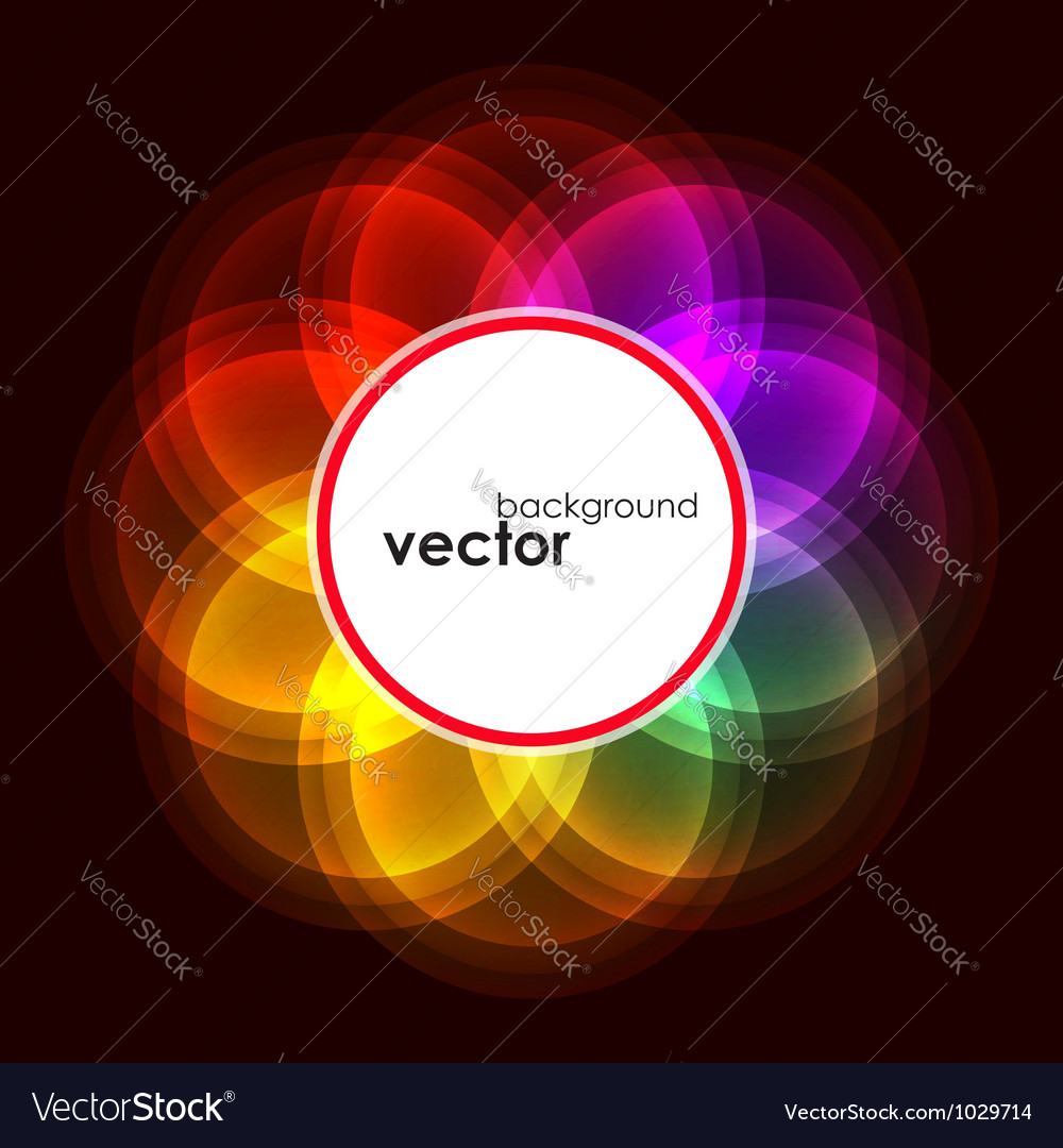 Abstract bubble glow frame vector