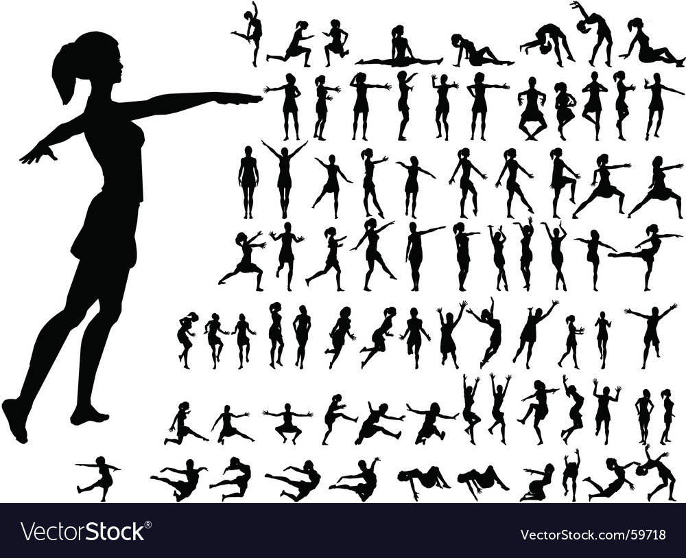Dance girl vector