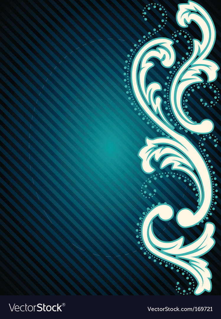 Vertical vintage rococo background vector