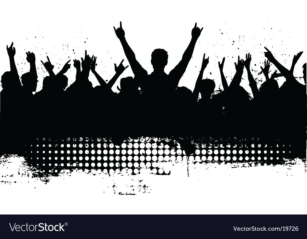 Grunge audience vector