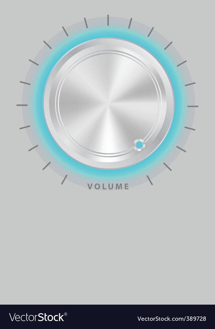 Metallic volume knob vector