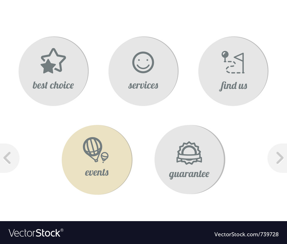 Simple icons for web vector