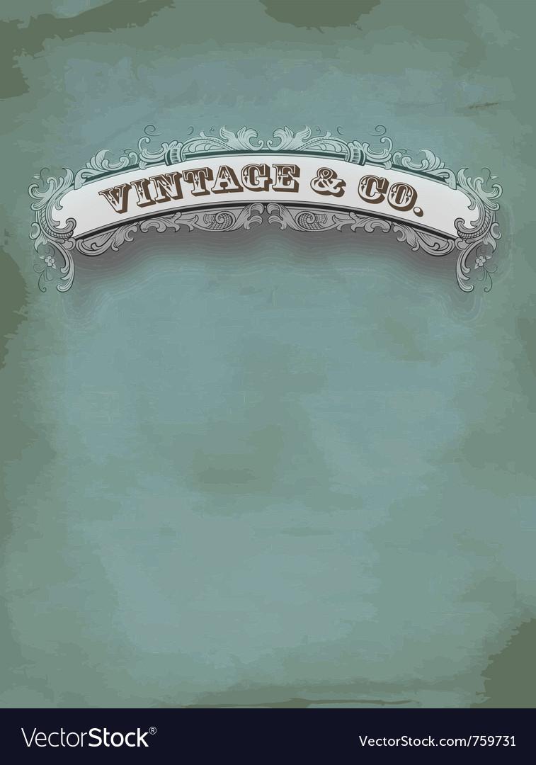 Vintage card vector