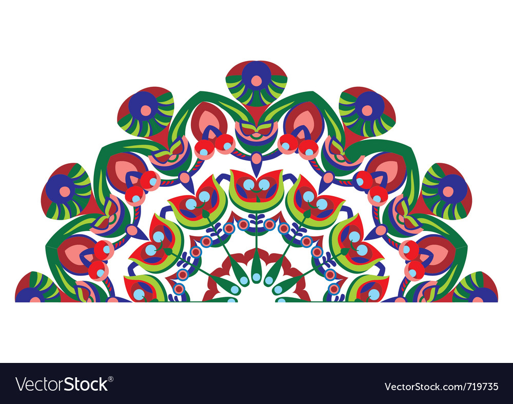 Decorative tail peacocks vector