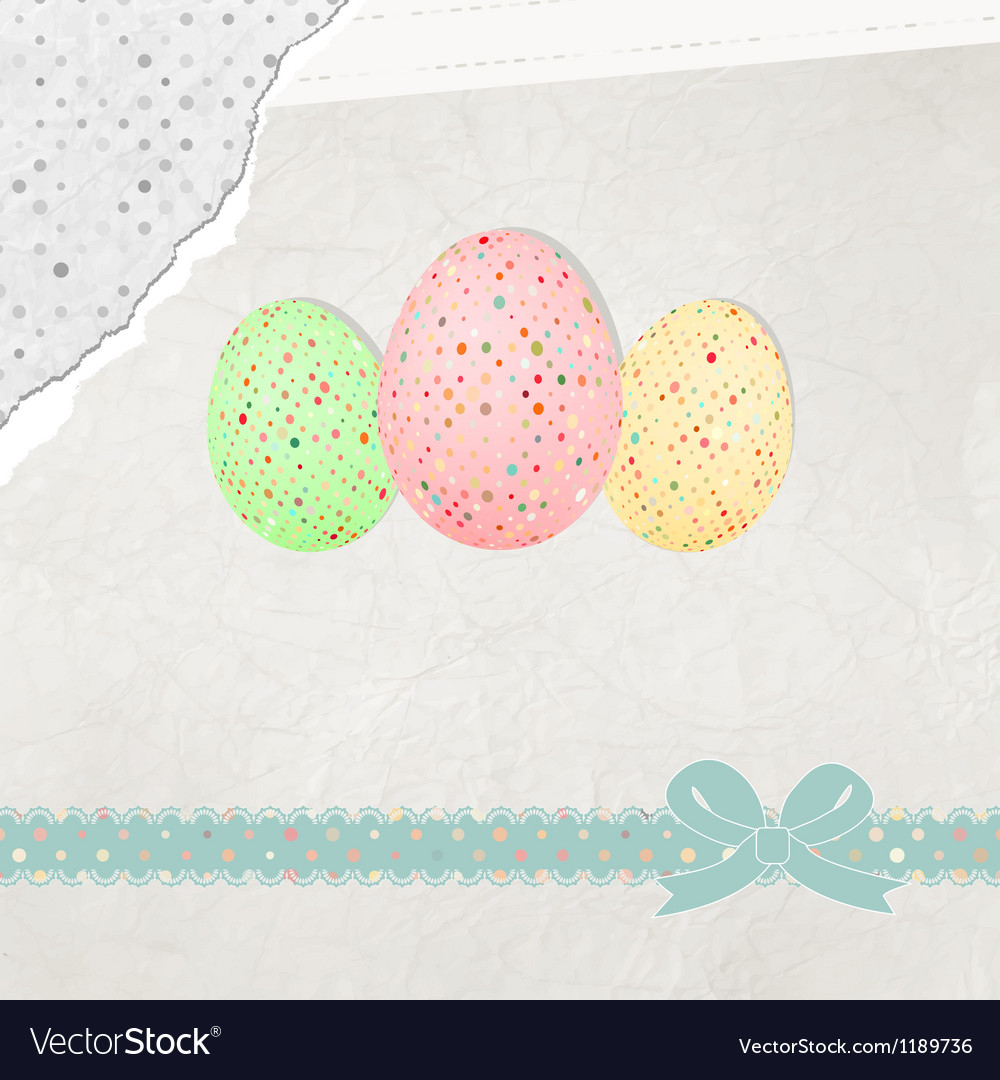 Easter eggs card eps 8 vector