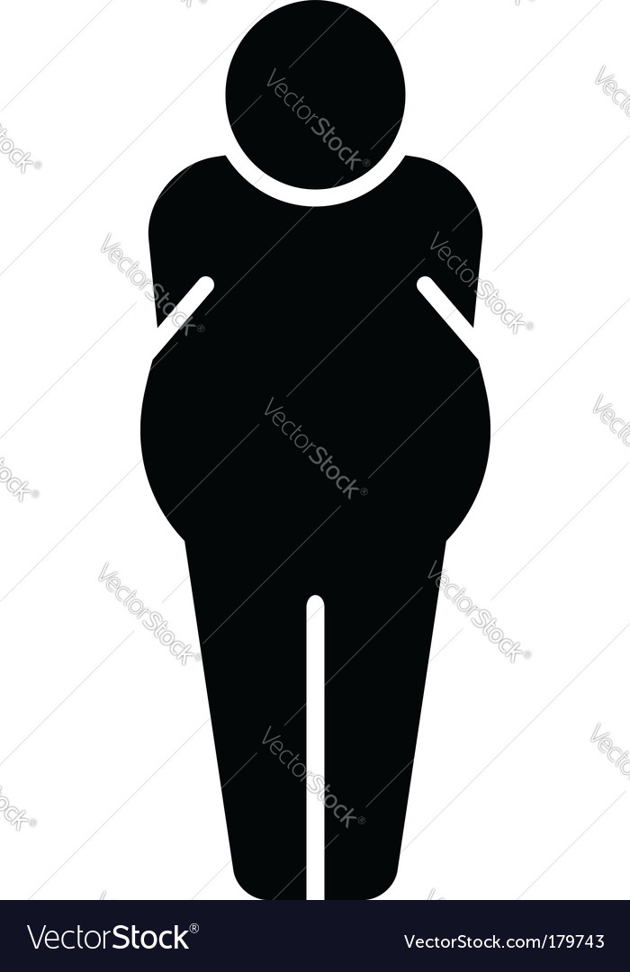 Fat man icon vector