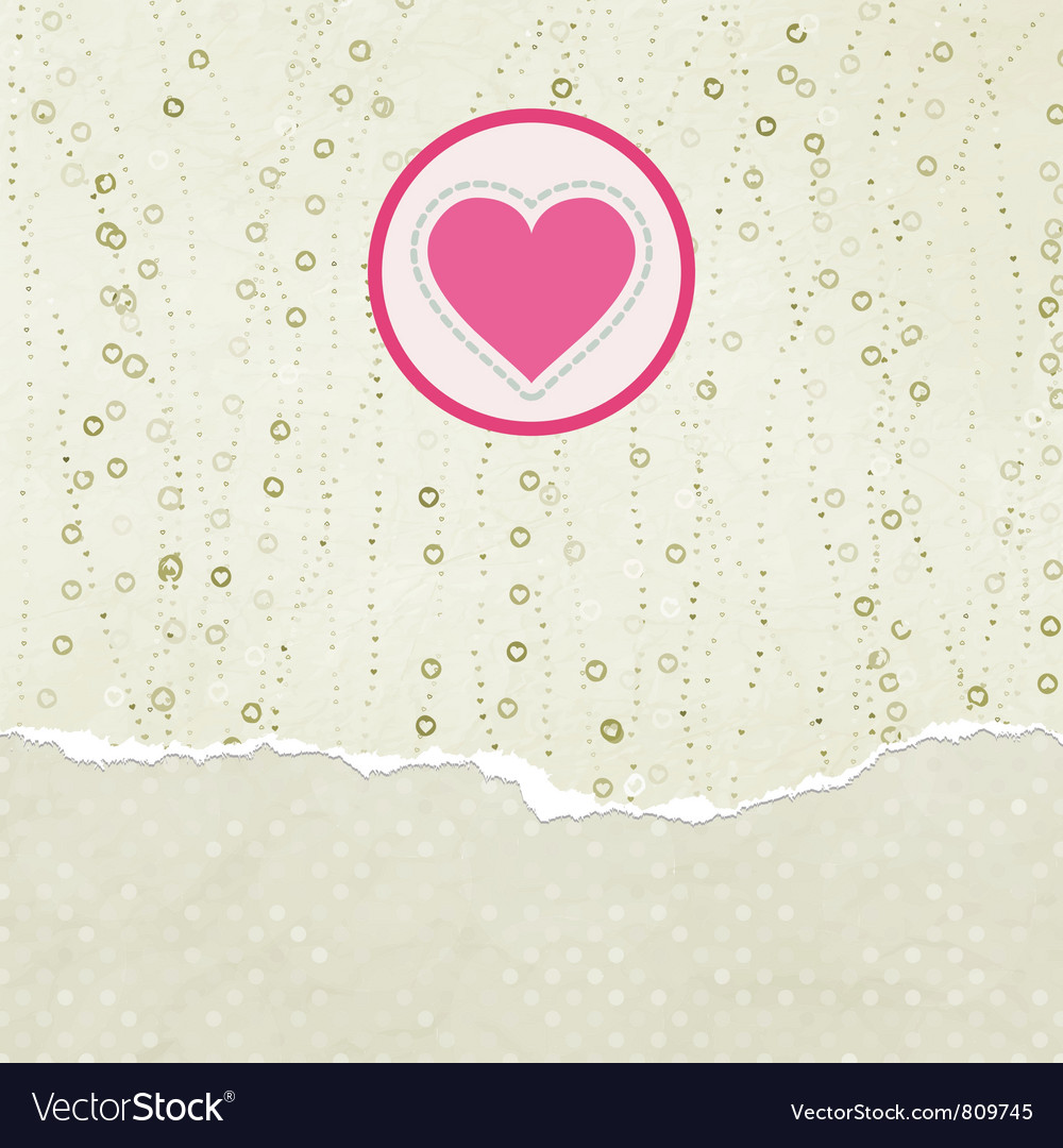 Valentines heart card vector