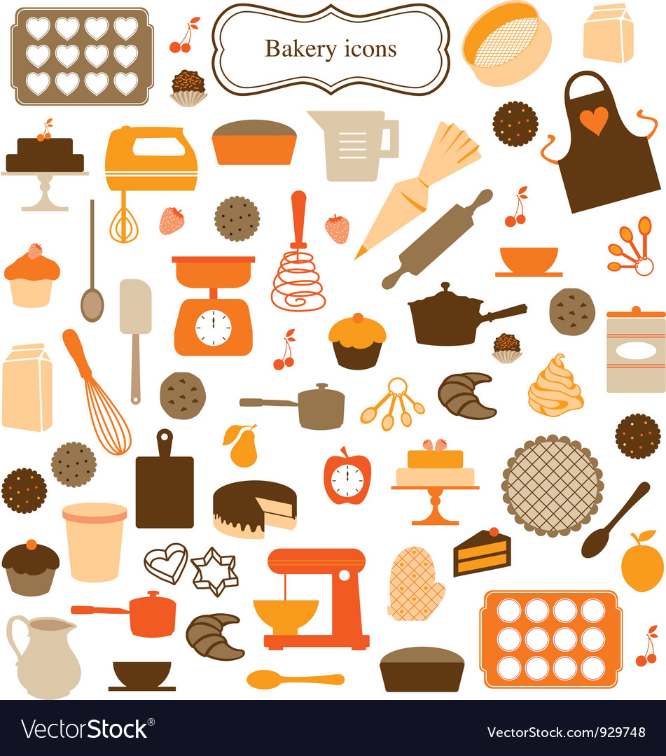 Kitchen tools vector art - Download Kitchen vectors - 929748