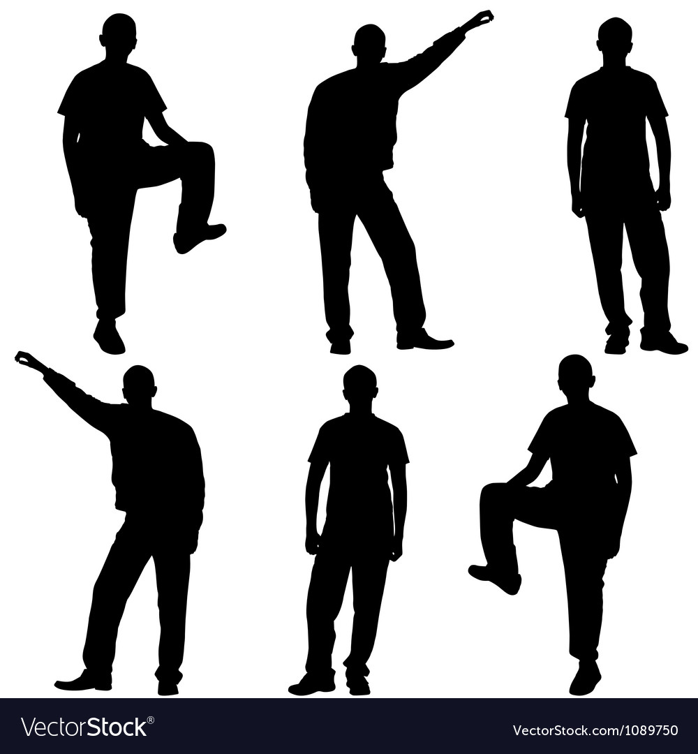 People silhouette isolated vector