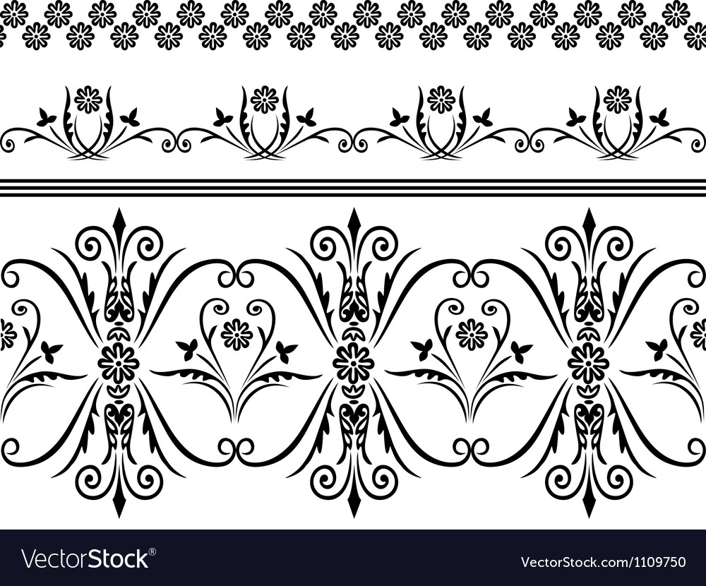 Seamless pattern with swirling decorative elements vector