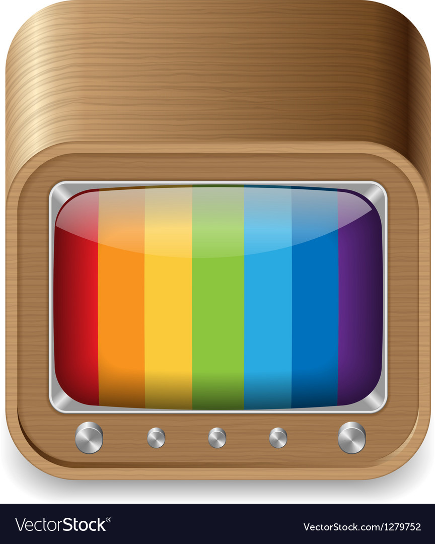 Icon for television set vector