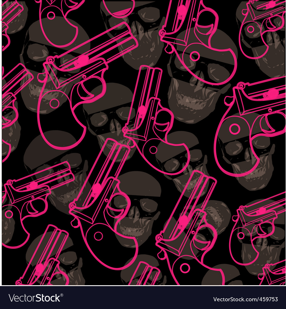 Pistol pattern vector