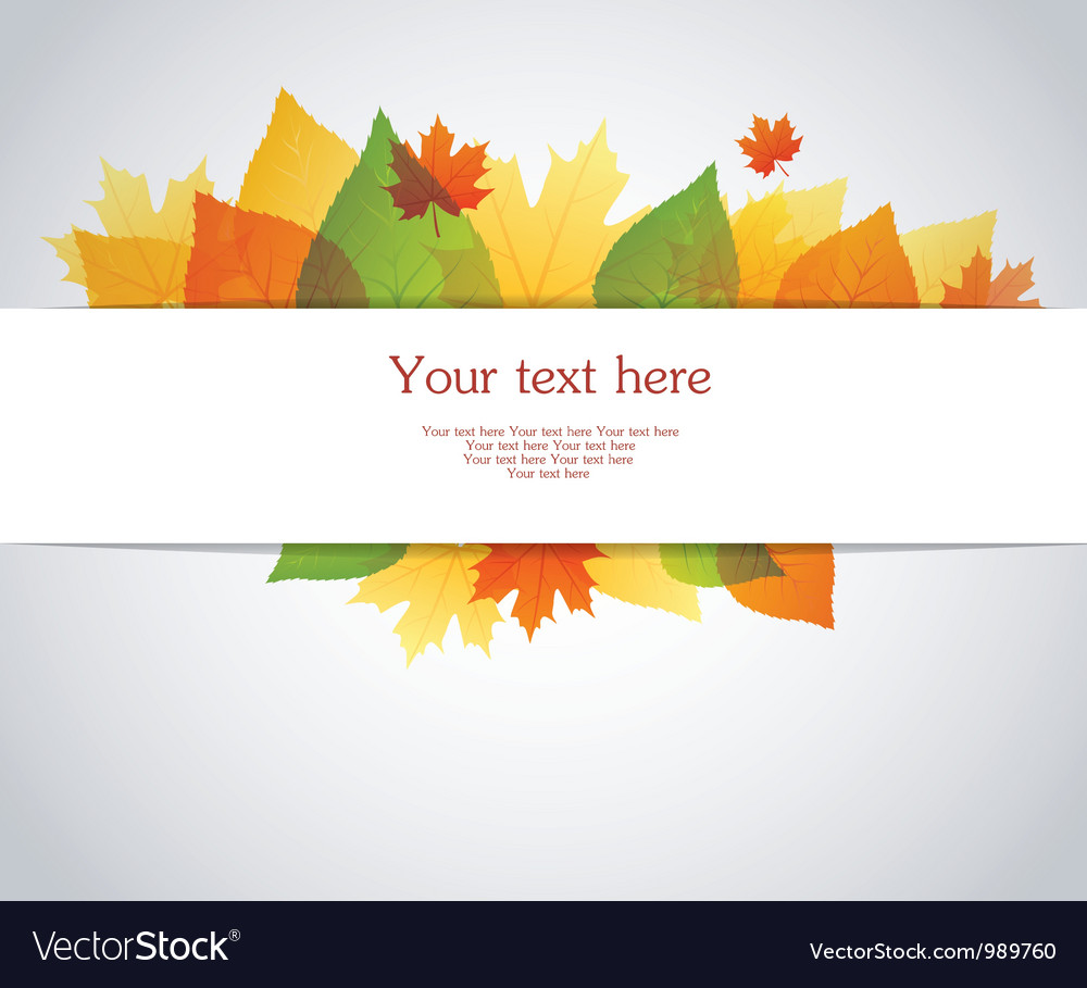 Back autumn leafs vector