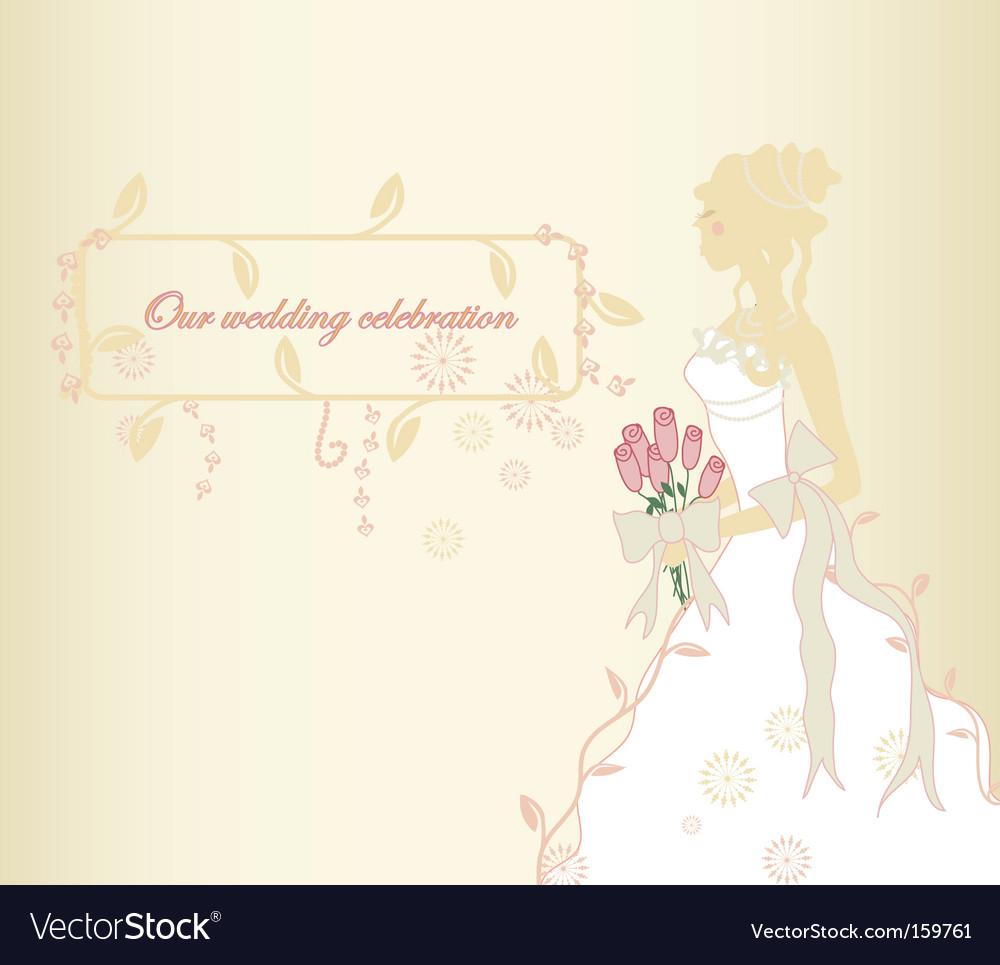 Classic bride vector