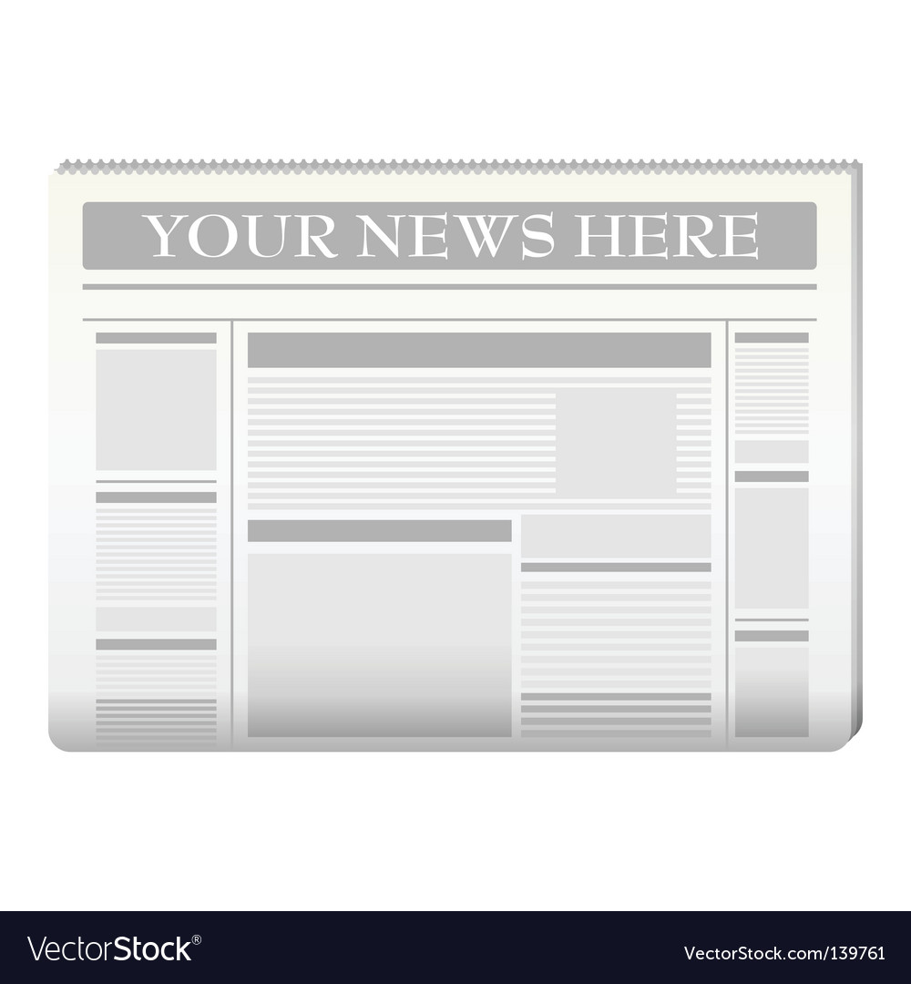 Newspaper template vector
