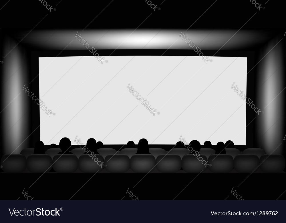 Blank cinema screen vector