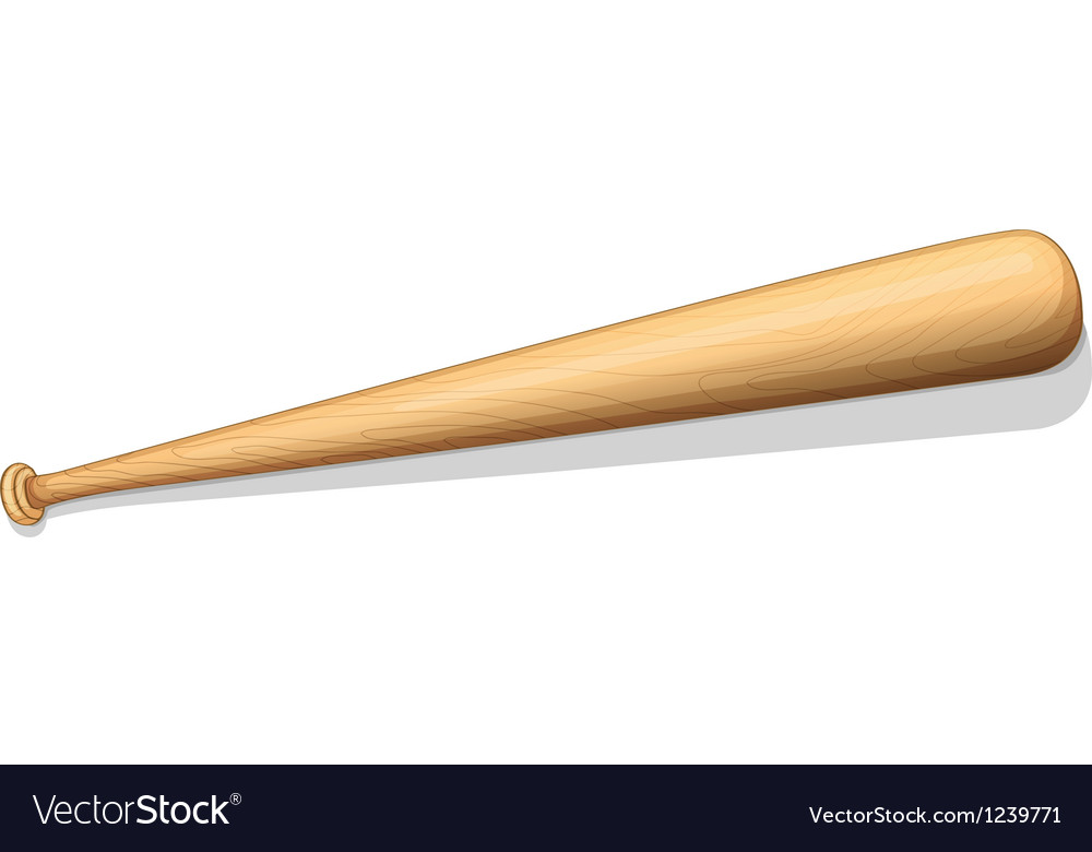 A baseball bat vector