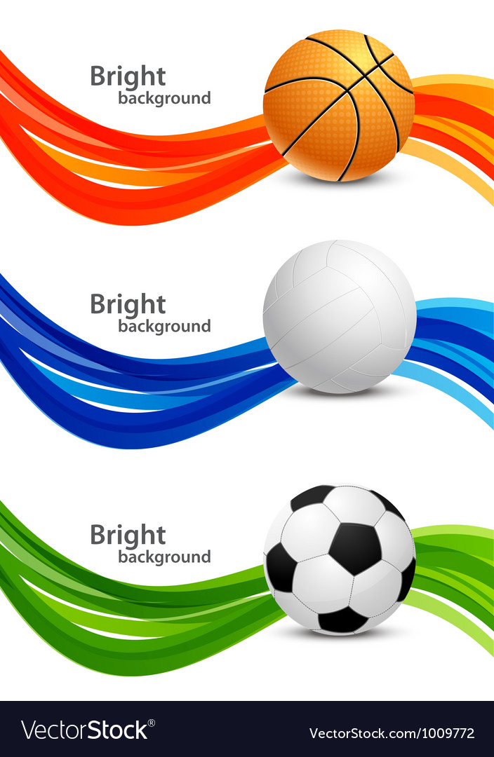 Set of banners with balls vector