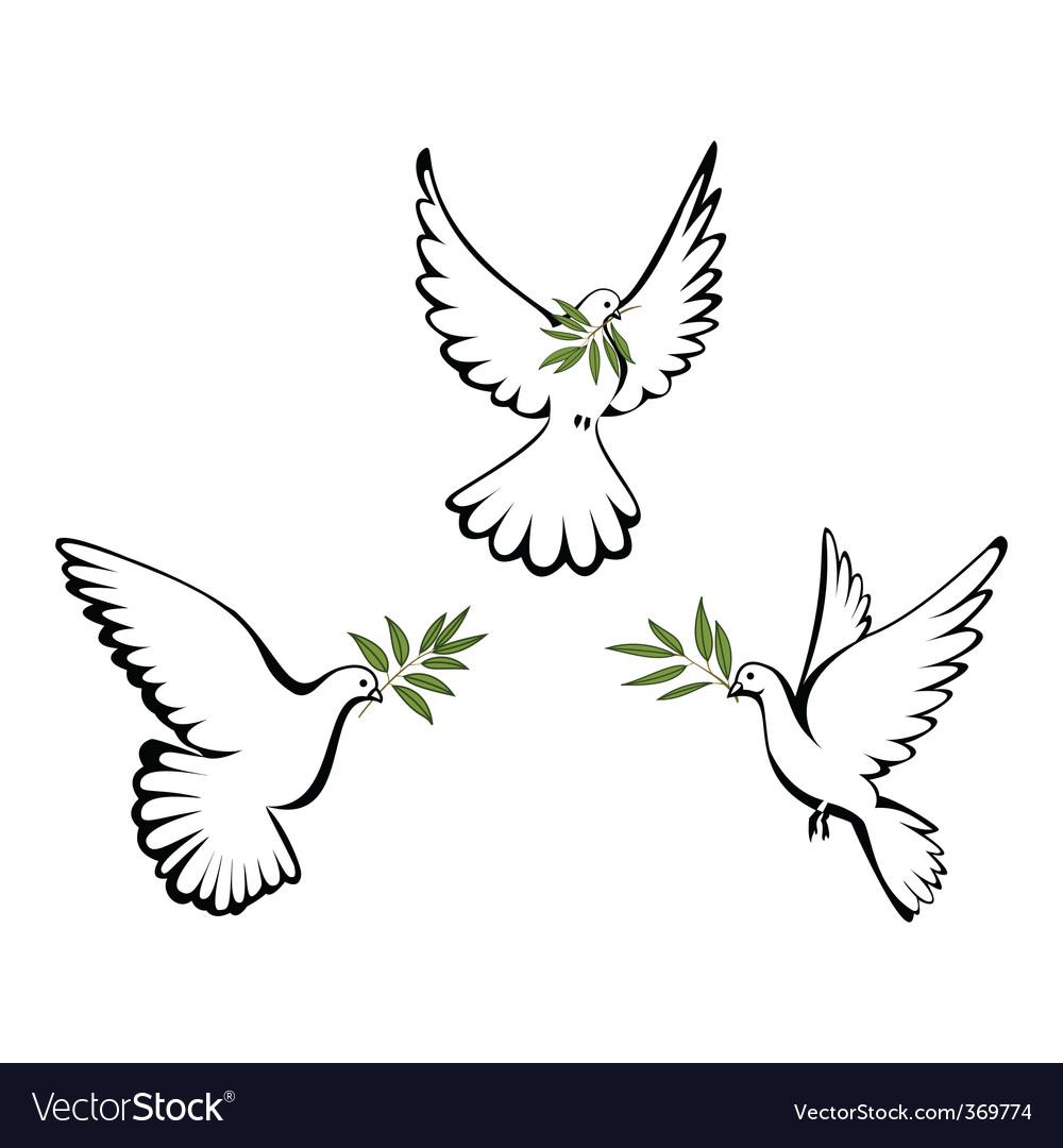 Peace dove vector by Yorrico - Image #369774 - VectorStock