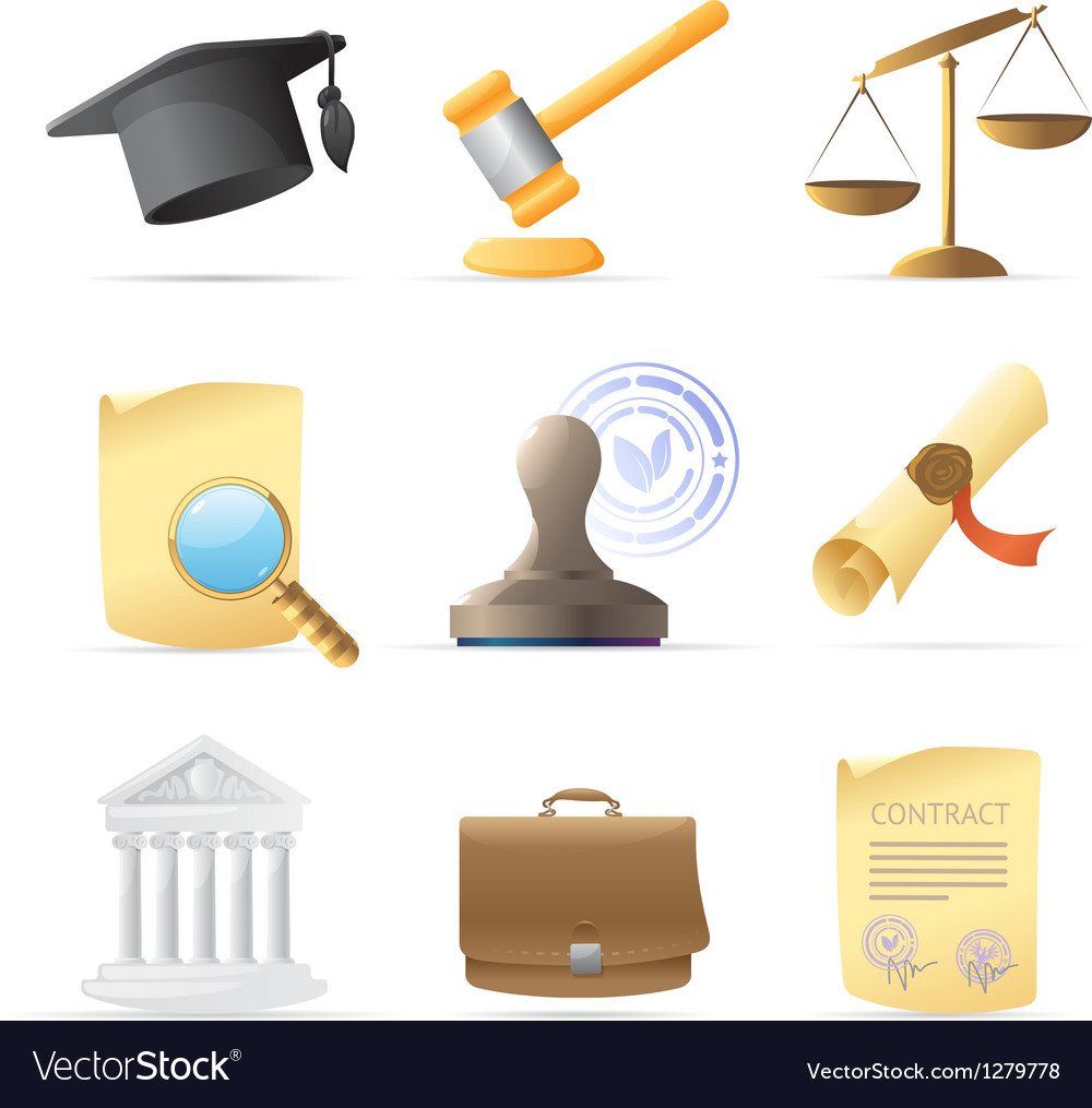 Icons for law vector