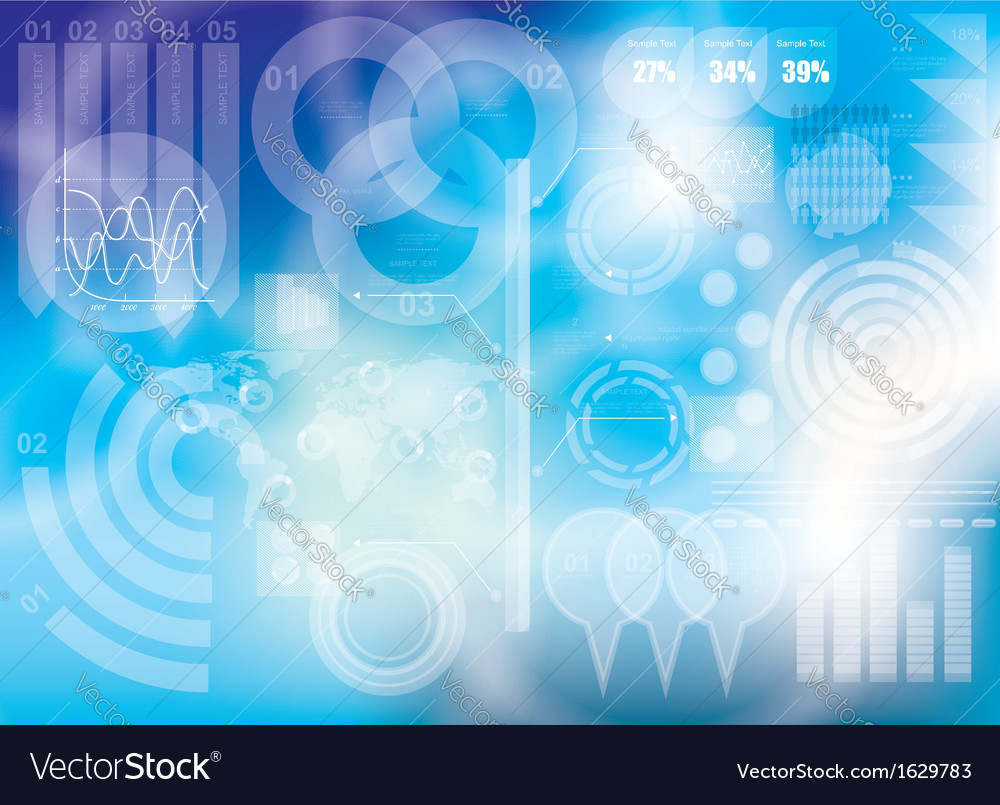 Modern virtual technology background vector