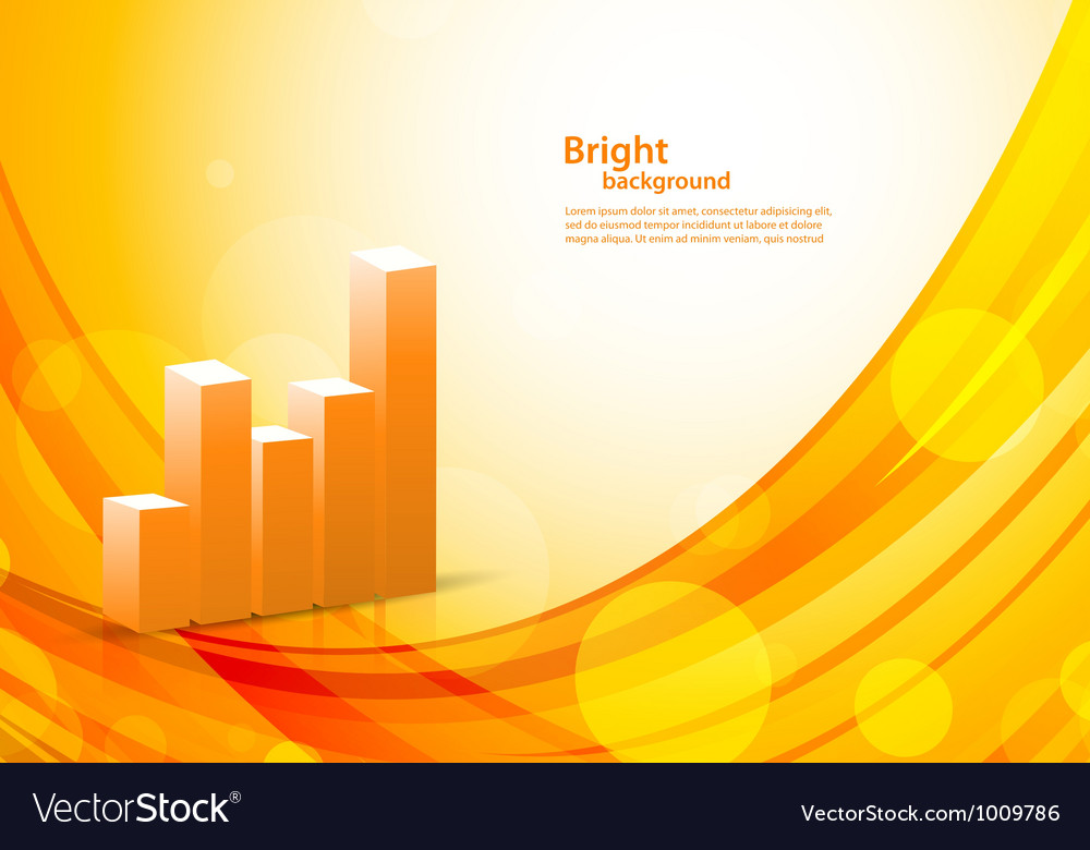 Background with diagram vector