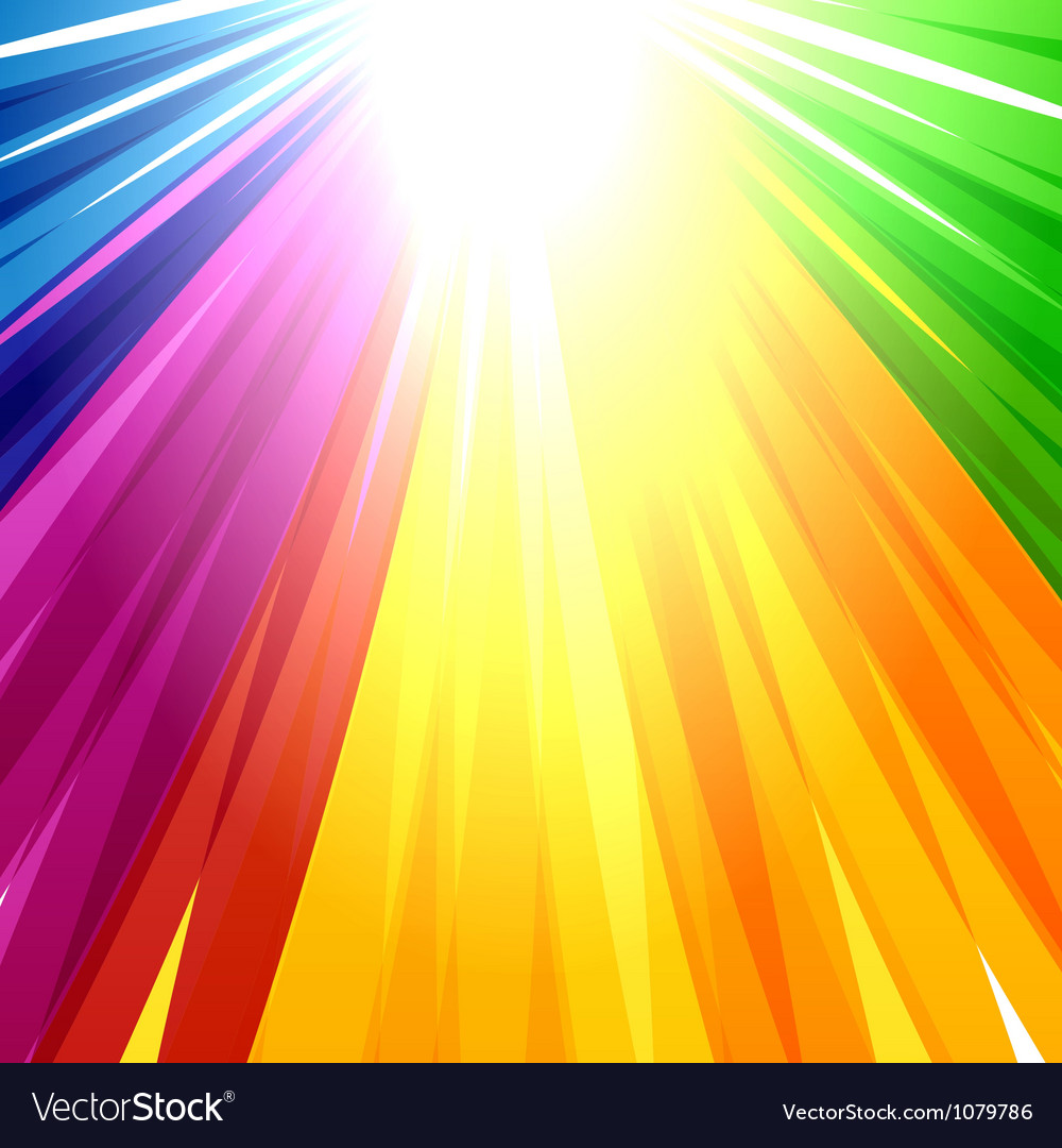 Rainbow lines background vector