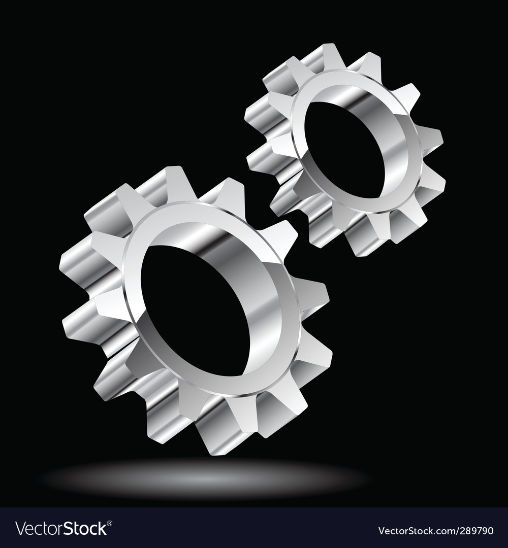 Chrome gears vector