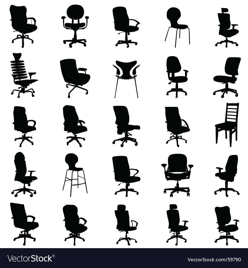 Modern chairs vector
