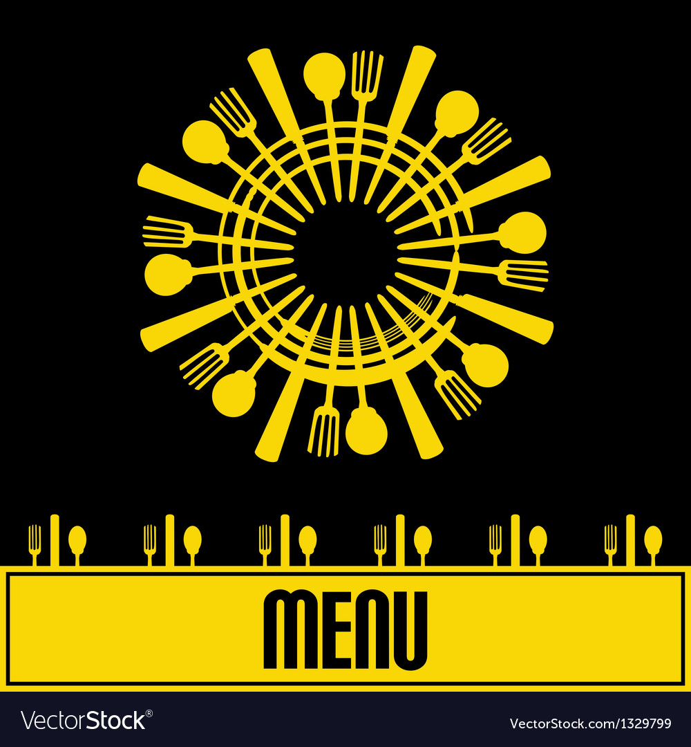 Sunshine menu vector